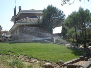 Riego automatico en Jardin de Las Rozas