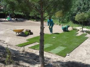 Diseño y realizacion jardin en Galapagar, Madrid